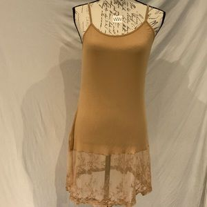 Tops - EUC-goldenrod colored lace-trimmed camisole